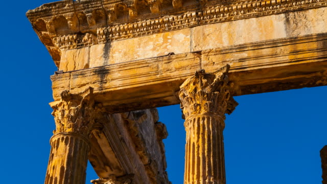 the capitol in dougga city - architrav stock-videos und b-roll-filmmaterial