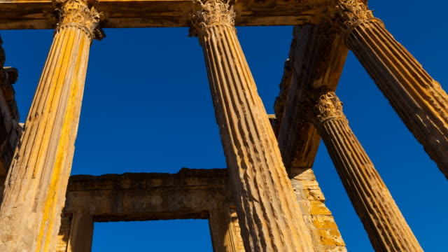 the capitol in dougga city - korinthisch stock-videos und b-roll-filmmaterial