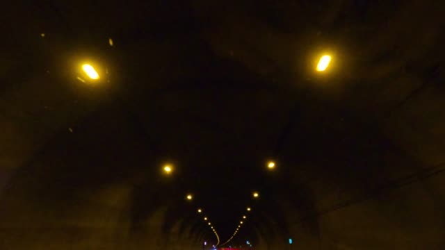 the car is going in the dark tunnel. - lighting equipment stock videos & royalty-free footage