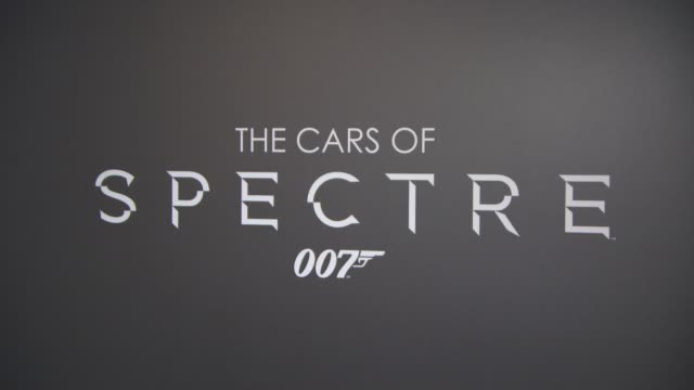 atmosphere the cars of 'spectre' exhibition at the london film museum on november 17 2015 in london england - spectre 2015 film stock videos and b-roll footage
