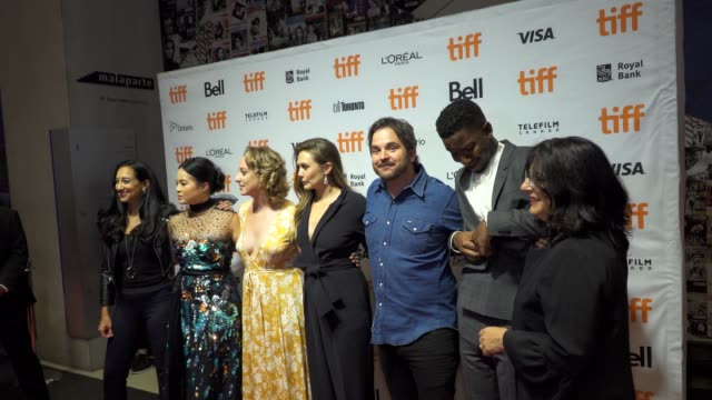 The cast arrives on the red carpet of 'Sorry for Your Loss' during the Toronto International Film Festival on September 8 2018 in Toronto Canada