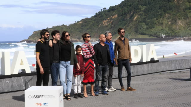 the cast attends the 'la hija de un ladron ' photocall during the 67th san sebastian film festival in the northern spanish basque city of san... - hija stock videos & royalty-free footage