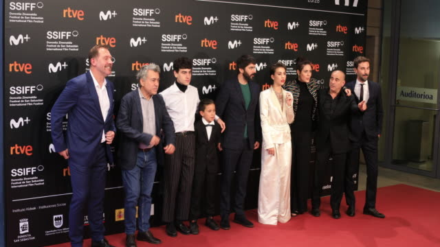 the cast attends the 'la hija de un ladron ' premiere during the 67th san sebastian film festival in the northern spanish basque city of san... - hija stock videos & royalty-free footage
