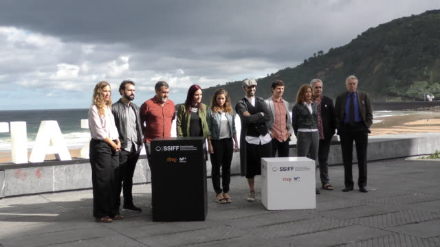 The cast during the 'Dantza' photocall during the 66th San Sebastian International Film Festival on September 24 2018 in San Sebastian Spain