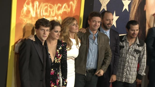 the cast of american ultra at the american ultra los angeles premiere at the theatre at the ace hotel on august 18 2015 in los angeles california - cast member stock videos & royalty-free footage