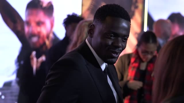 stockvideo's en b-roll-footage met the cast of black panther attend the european premiere of the new marvel film interviews with florence kasumba daniel kaluuya danai gurira martin... - ensemble lid