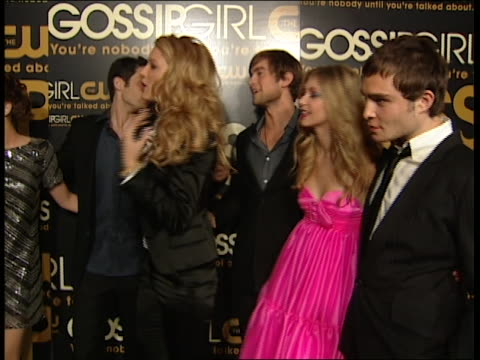 The Cast of Gossip Girl at the Premiere party Red Carpet