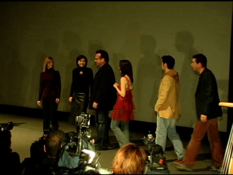 the cast of 'happy endings' at the 2005 sundance film festival 'happy endings' opening night premiere at the eccles theatre in park city, utah on... - park city utah video stock e b–roll
