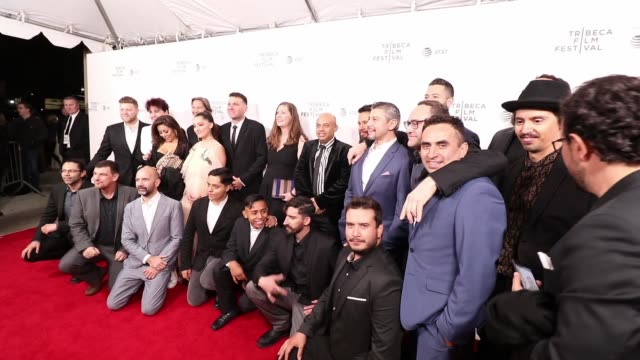 the cast of of the gasoline thieves premiere at 2019 tribeca film festival in new york usa on april 25 2019 - tribeca stock videos & royalty-free footage