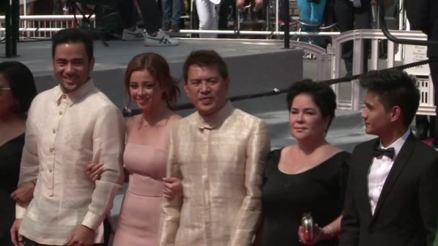 The cast of Palme dOr contender Ma Rosa walked the red carpet in Cannes on Wednesday for the screening of the Filipino movie which exposes police...