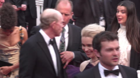 star wars story shine on the red carpet during its premiere during cannes film festival 2018 - woody harrelson stock videos & royalty-free footage