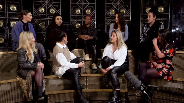 the cast of the musical six talk about sarah everard and the impact this has had on them and their daily dealings of safety. collette guitart,... - celebrities stock videos & royalty-free footage