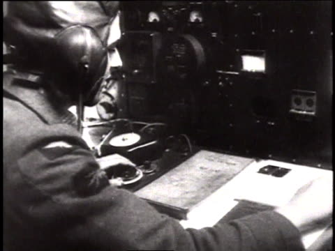 the catalina's radioman signaling the sighting of the bismark / north sea - telegraph machine stock videos & royalty-free footage