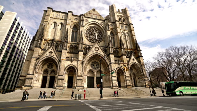 the cathedral church of st. john the divine - spirituality stock videos & royalty-free footage