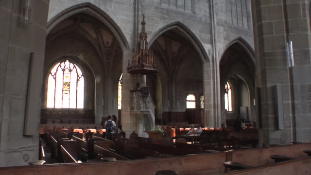 the cathedral of bern - gothic style stock videos & royalty-free footage