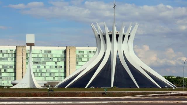 The Cathedral of Brasilia stands on October 27 in Brasilia Brazil
