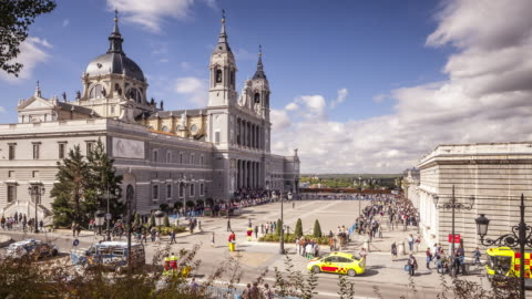 the cathedral of madrid, spain. - spanish culture stock videos & royalty-free footage