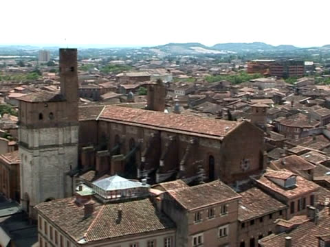 the cathedral town of albi in southwest france has become the latest addition to unesco's list of world heritage sites -- recognised for its bishop's... - infamous stock videos & royalty-free footage