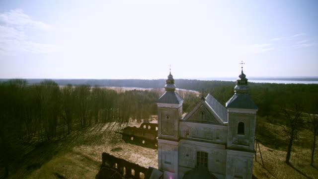 stockvideo's en b-roll-footage met de katholieke kerk in zasvir, wit-rusland, oost-europa - eastern european culture