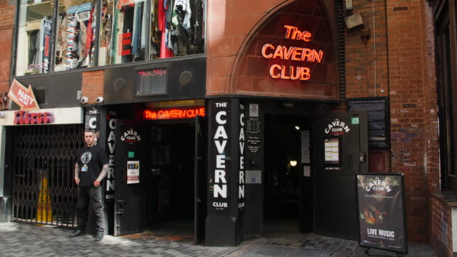 the cavern club on mathew street, liverpool - only mid adult men stock videos & royalty-free footage
