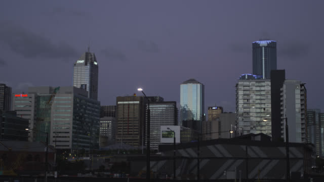 The CBD and West Melbourne early Evening, Time Lapse, Melbourne, Victoria, Australia