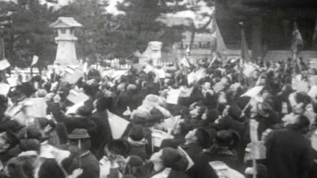 the celebration parade in mukden to commemorate the founding of the nation unknown date. - memorial event stock videos & royalty-free footage