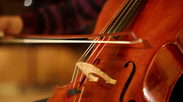 The cello playing