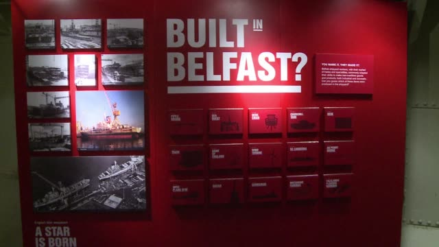 the centenary of the sinking of the titanic has given the northern irish capital belfast a chance to revisit its industrial past, and reassess its... - anniversary stock videos & royalty-free footage