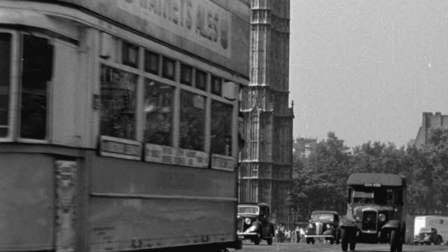 1948 montage the center of london / england - big ben stock videos & royalty-free footage