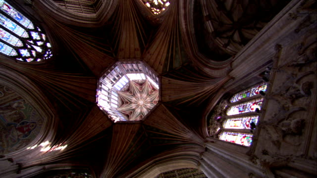 The Central Crossing meets in the Octagon Tower of the Ely Cathedral. Available in HD.