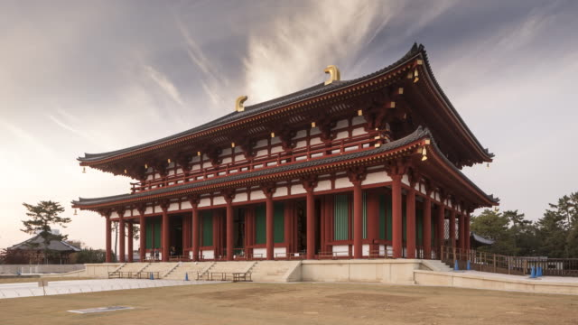 the central hall of kofuku-ji temple in nara, japan. - temple building stock videos & royalty-free footage
