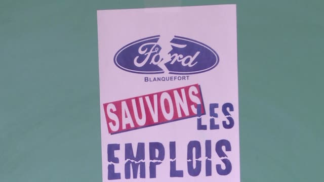 the cgt union of the ford factory in blanquefort suffered a further setback after its application was rejected on tuesday on appeal - gironde stock videos and b-roll footage
