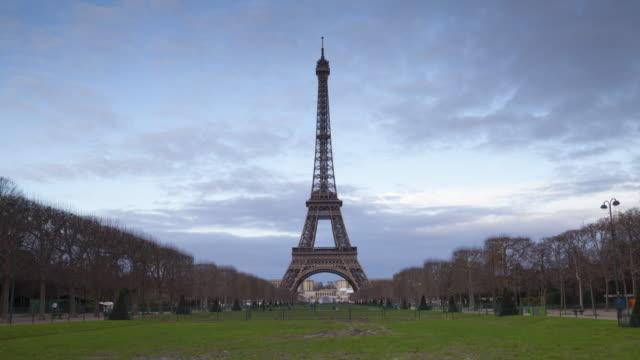The Champ de Mars and the Eiffel Tower, Paris.