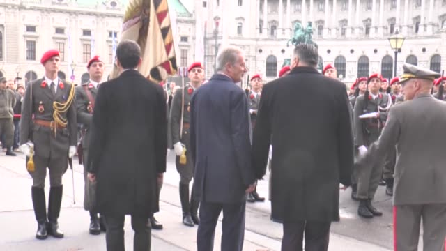 the chancellor of austria christian kern president of austrian national council doris bures and defense minister of austria hanspeter doskozil attend... - traditionally austrian stock videos and b-roll footage