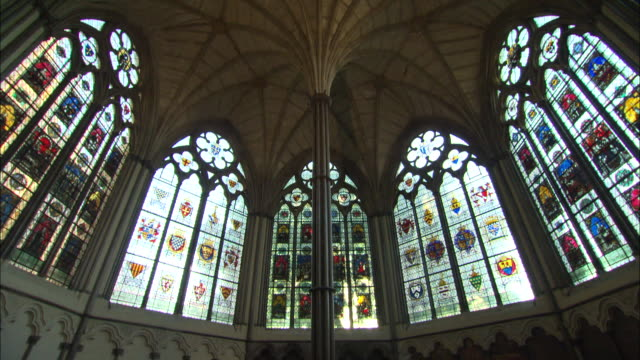 the chapter house of westminster abbey in london, uk - westminster abbey stock videos & royalty-free footage