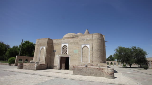 the chashma-ayub mausoleum in bukhara, uzbekistan - mausoleum stock videos and b-roll footage