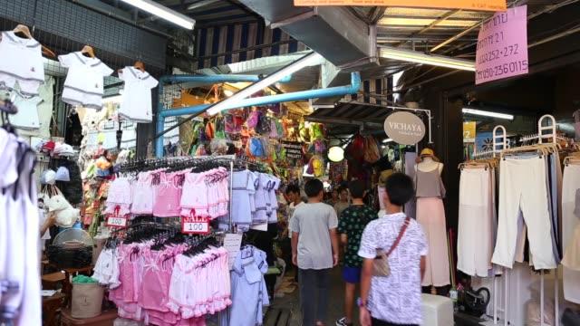 チャトゥチャック市場 バンコク - お土産点の映像素材/bロール