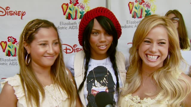 the cheetah girls adrienne bailon kiely williams and sabrina bryan on the event at the 'a time for heroes' carnival to benefit the elizabeth glaser... - アタイムフォーヒーローズ点の映像素材/bロール