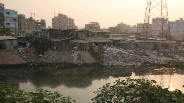 the chemical waste of mills and factories household waste eventually makes the buriganga river miserable which is considered to be dhaka's lifeline... - bangladesh stock videos & royalty-free footage