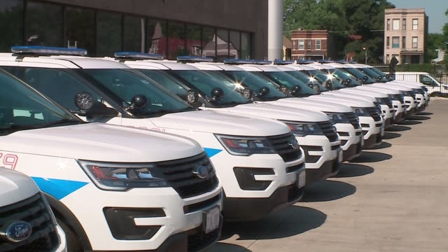 wgn the chicago police department rolled out a new fleet of police carsforty of the police cars will be deployed on july 6 with a total of 550 of... - police car stock videos & royalty-free footage