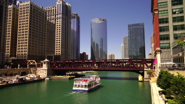 The Chicago River and downtown Chicago skyline