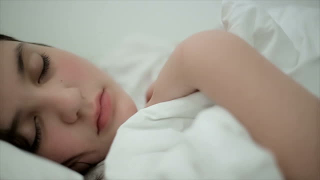 The child is sleeping,dolly shoot,close up