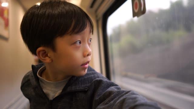 stockvideo's en b-roll-footage met de kinderen worden op de trein - passenger train