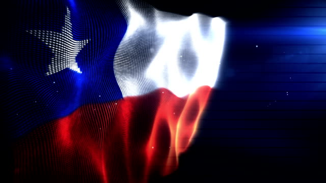The Chilean Flag - Background Loop (Full HD)