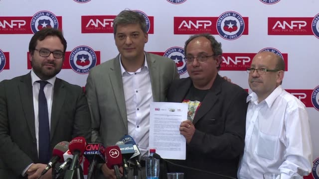 the chilean football federation on monday commits in an agreement with various associations to getting rid of all forms of discrimination in stadiums... - world cup qualifying round stock videos and b-roll footage