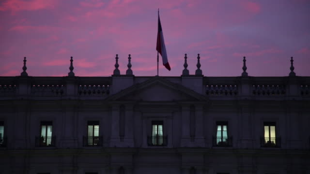 The Chilean national palace La Moneda in downtown Santiago Chile on Thursday June 28 2018