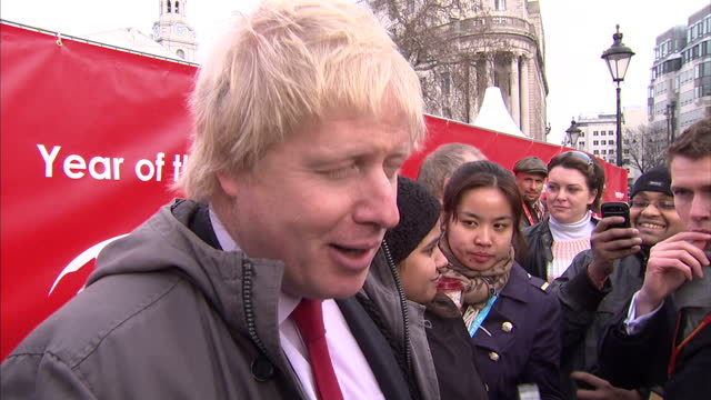 the chinese community in london had more than dragons to contend with as it celebrated the new year - ken livingstone and boris johnson were both... - mayor stock videos & royalty-free footage