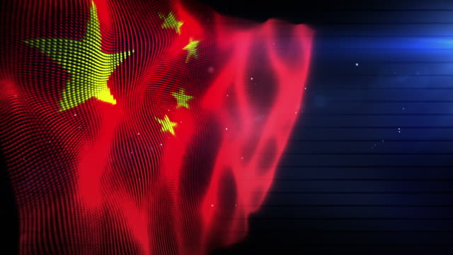 The Chinese Flag - Background Loop (Full HD)