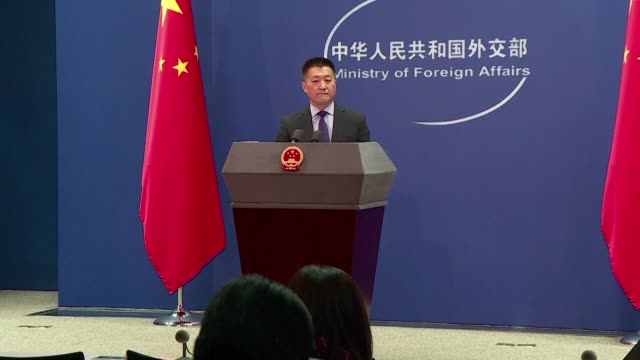 the chinese foreign ministry confirms that the united states and china have concluded three days of extended talks to resolve their trade war - trade war stock videos & royalty-free footage