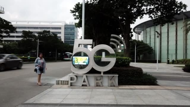 the chinese technology firm huawei said it's confident it will be allowed to help develop 5g technology in the uk shows interiors and exteriors of... - mobile phone stock videos & royalty-free footage
